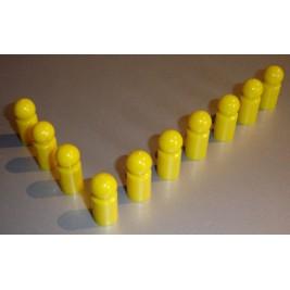 10x Pinnwandmagnet extra stark,gelb
