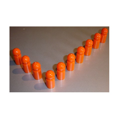 10x Pinnwandmagnet extra stark, orange