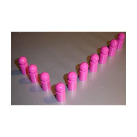 10x Pinnwandmagnet extra stark, pink