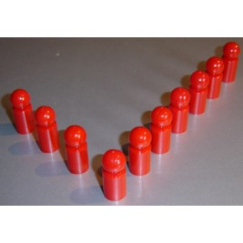 10x Pinnwandmagnet extra stark,rot