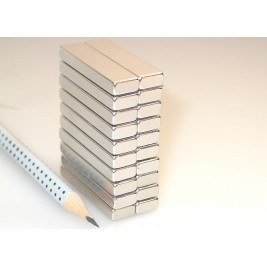 20 Stück Magnet 40x10x5 mm, max. Haftkraft 18 kg