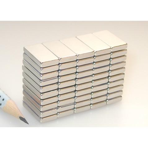 Magnet 20x10x3 mm, max. Haftkraft 4,3 kg