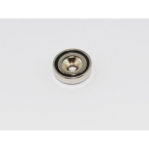 Magnet ø 16 mm mit Loch und Senkung max. Haftkraft 5kg