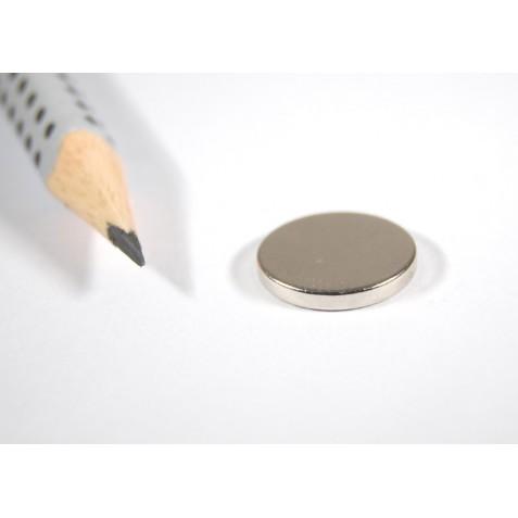 Magnet ø 14x2 mm, max. Haftkraft 3,7 kg