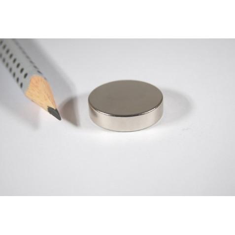 Magnet ø 20x5 mm, max Haftkraft 10,8 kg